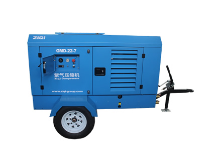 GMD-22-7~110-14.5 GM diesel driven screw air compressor group