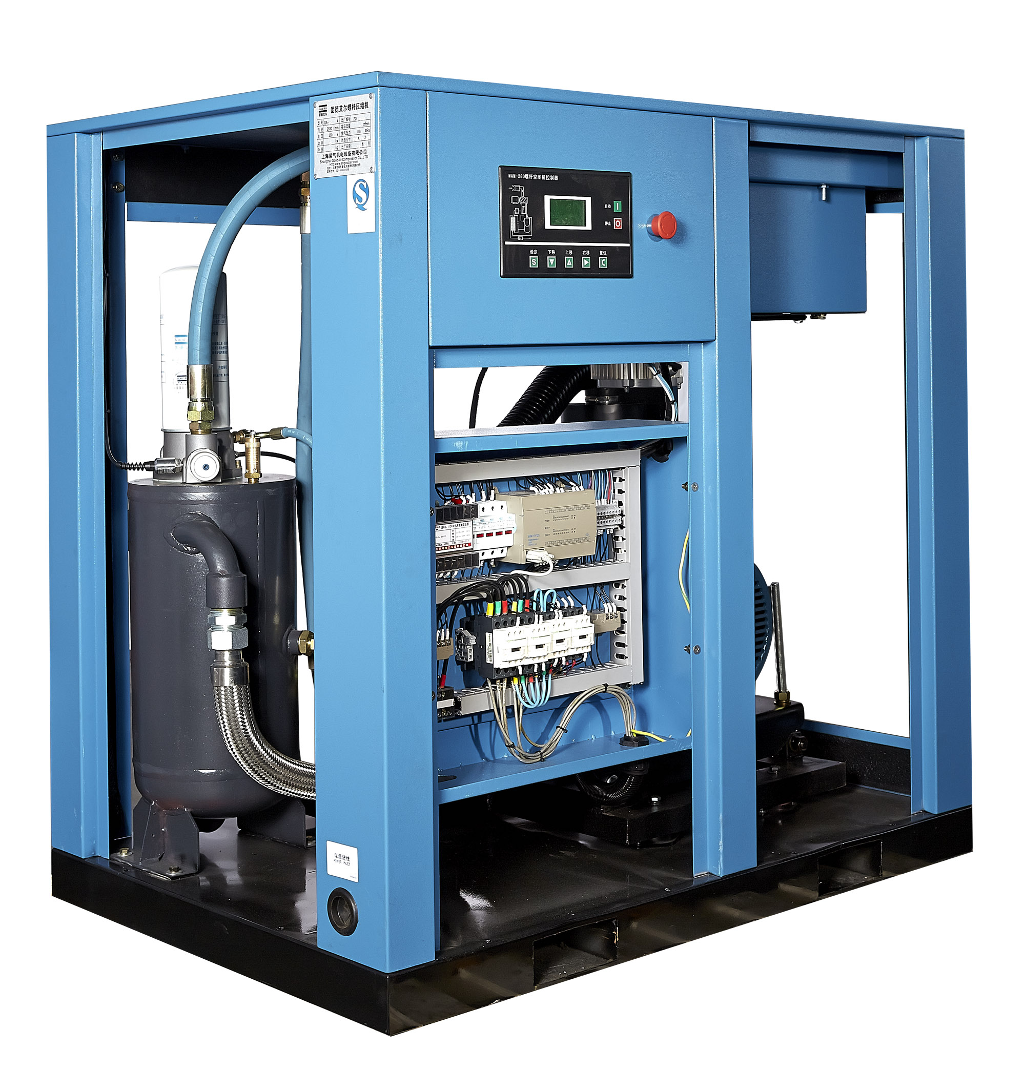 The marking method and technical parameters of air compressor