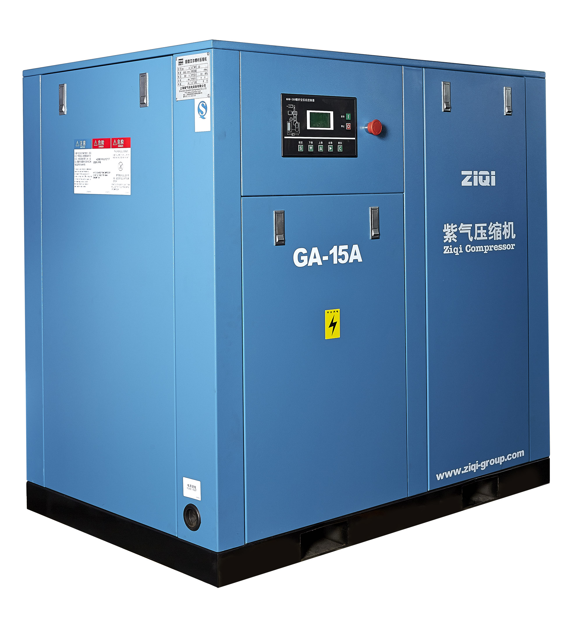 The structure and working principle of the oil free air compressor